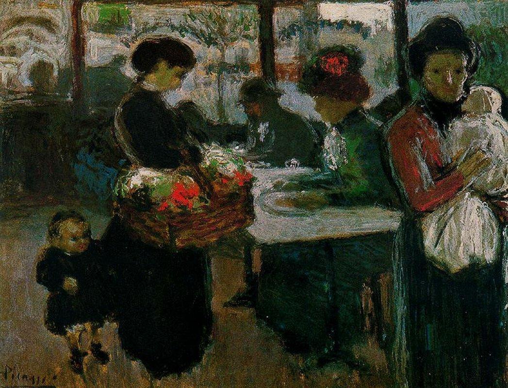 Brasserie on Monmartre - Pablo Picasso