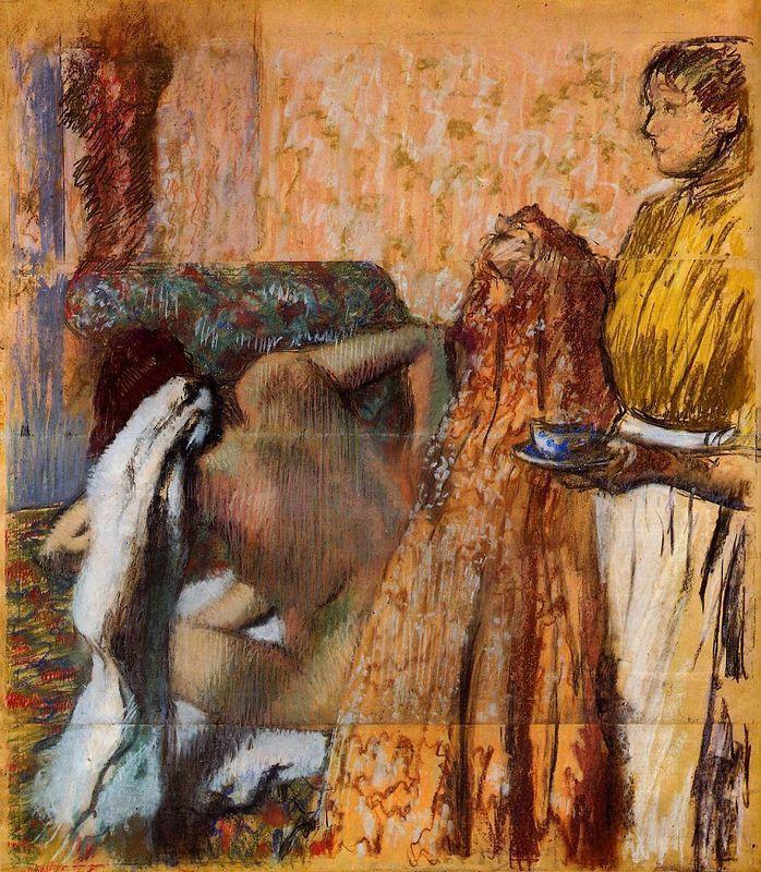 Breakfast after Bath - Edgar Degas