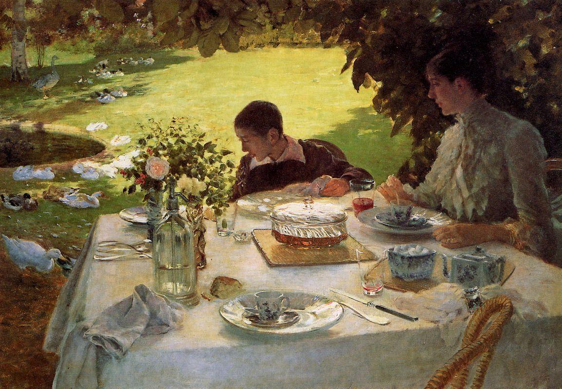 Breakfast in the Garden - Giuseppe de Nittis