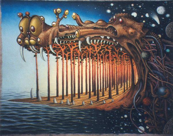 Breath of the Dragon - Jacek Yerka