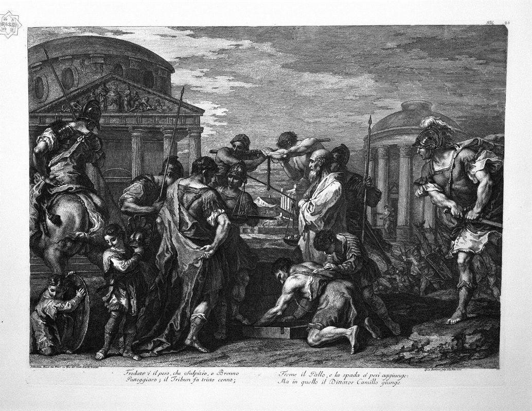 Brennus and Camillus - Giovanni Battista Piranesi