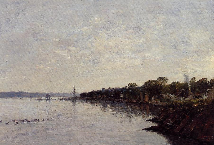 Brest, the Banks of the Harbor - Eugene Boudin