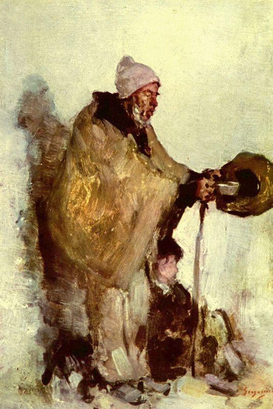 Breton beggar - Nicolae Grigorescu