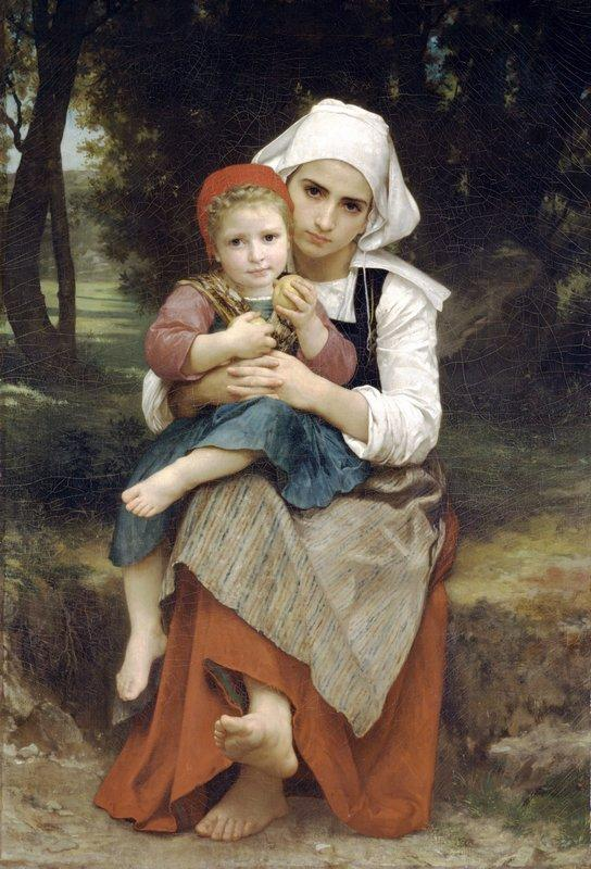 Breton Brother and Sister - William-Adolphe Bouguereau