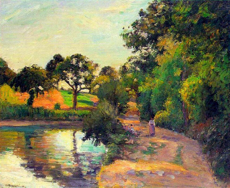 Bridge at Montfoucault - Camille Pissarro