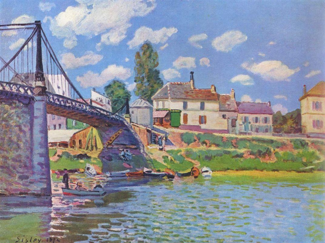 Bridge at Villeneuve la Garenne - Alfred Sisley