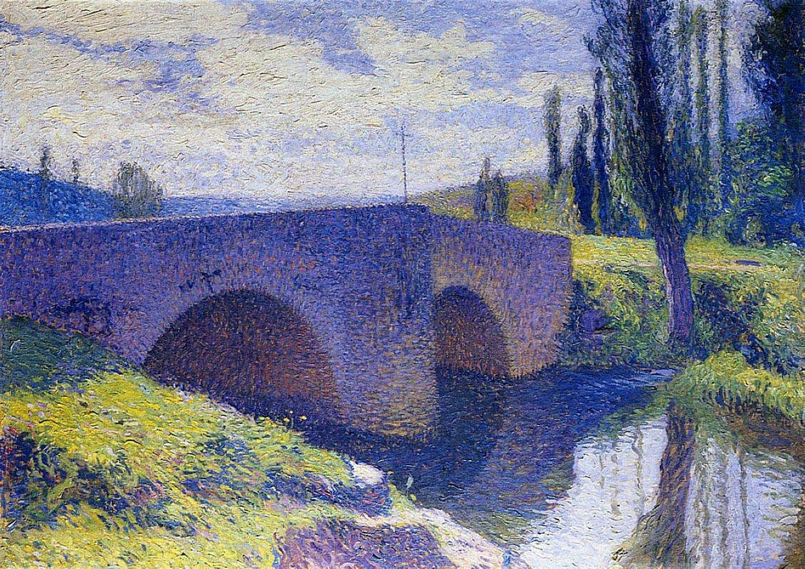 Bridge of Saint Medard at Midday - Henri Martin