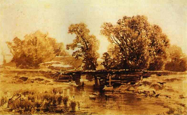 Bridge over a Brook - Fyodor Vasilyev