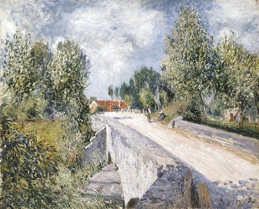 Bridge over the Orvanne near Moret - Alfred Sisley