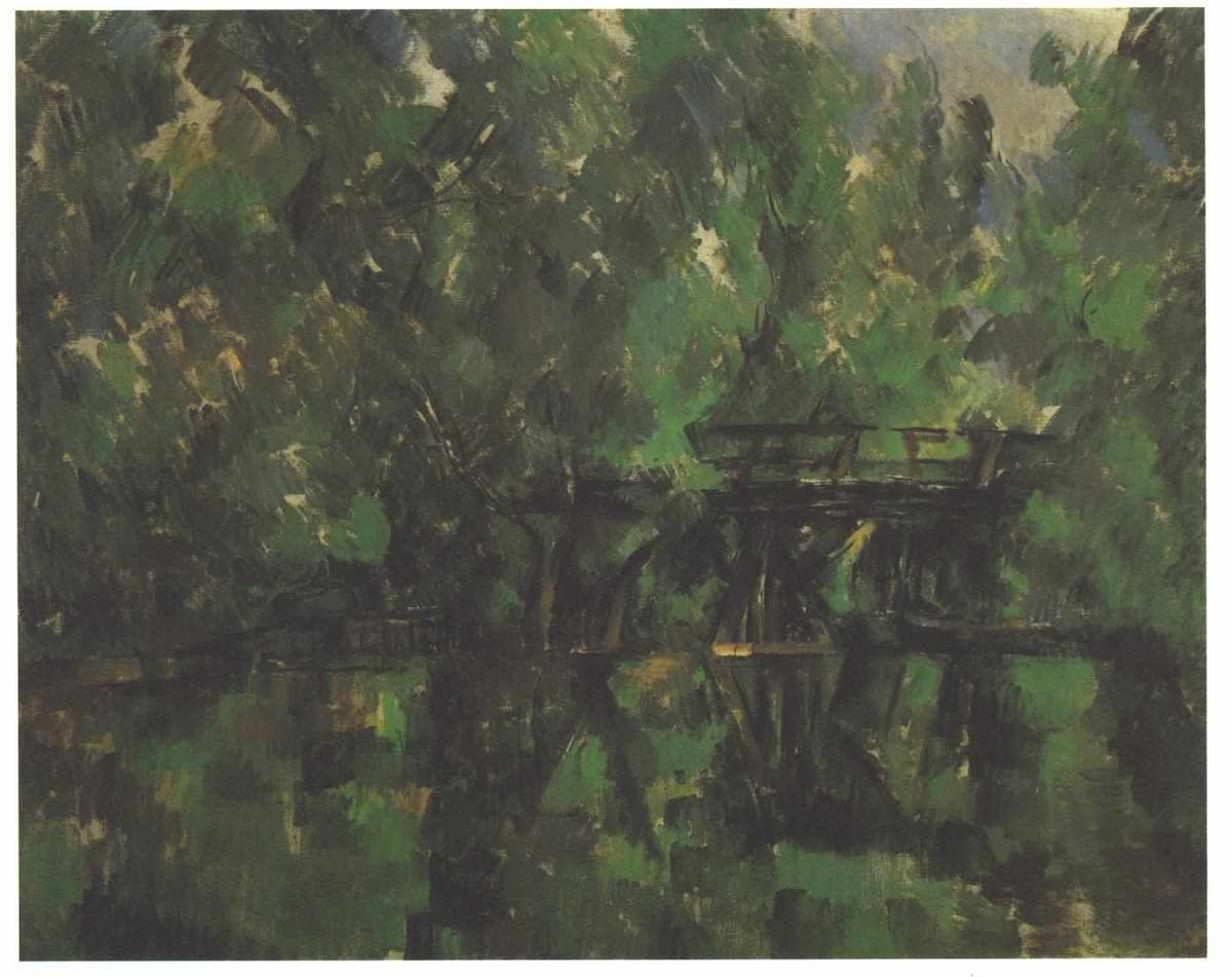 Bridge over the pond - Paul Cezanne