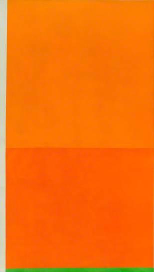 Bright Orange with Green - Peter Joseph