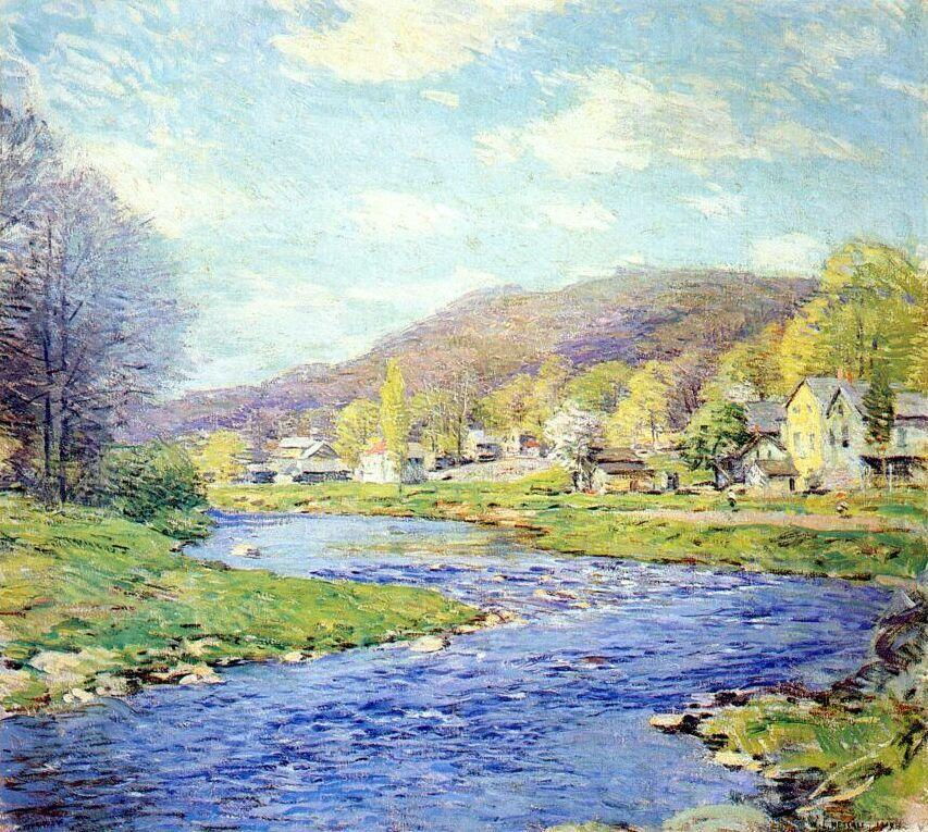 Brook in June - Willard Metcalf