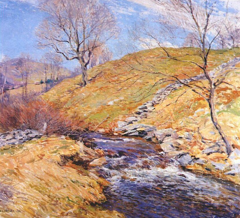 Brook in March - Willard Metcalf