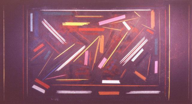Brown Line Painting - Ronnie Landfield