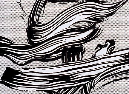 Brushstrokes - Roy Lichtenstein