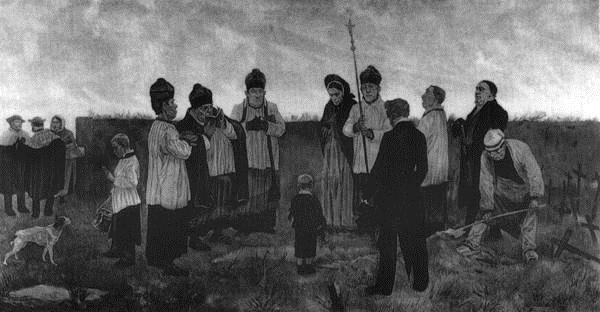 Burial in the Walloon Country - Felicien Rops