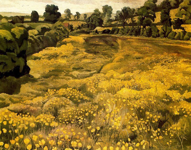 Buttercups in a Meadow - Stanley Spencer