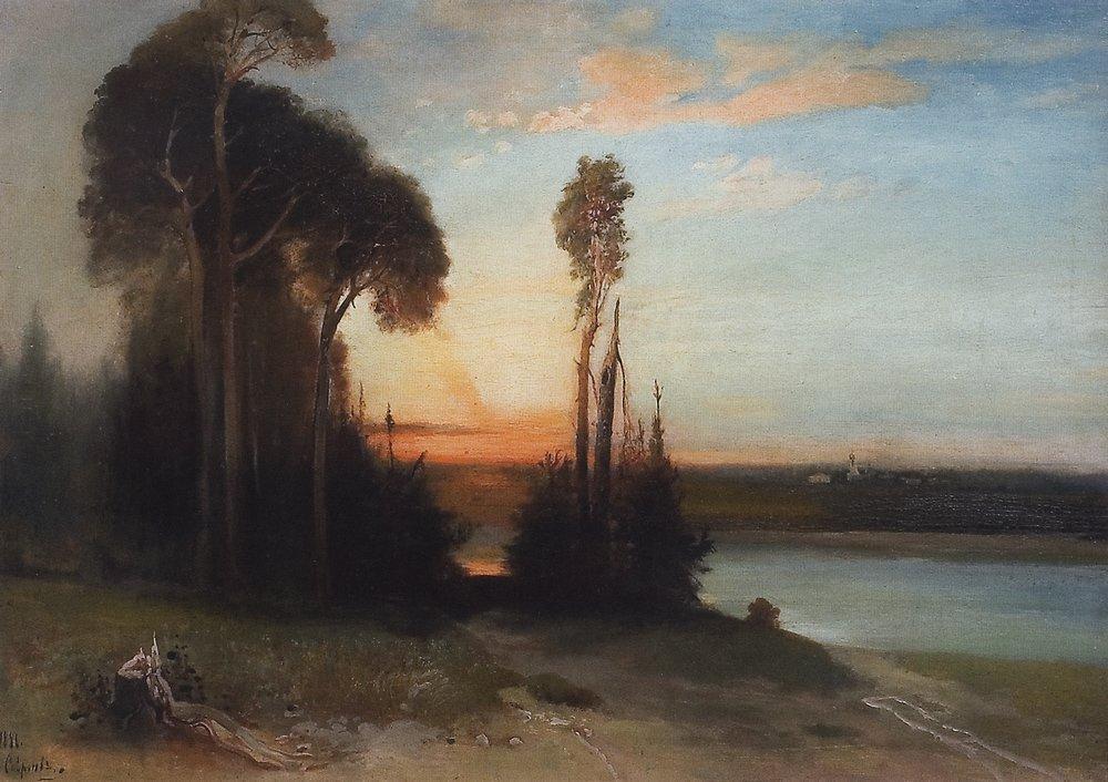 By evening - Aleksey Savrasov