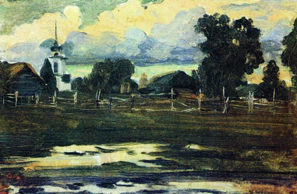 By evening - Isaac Levitan
