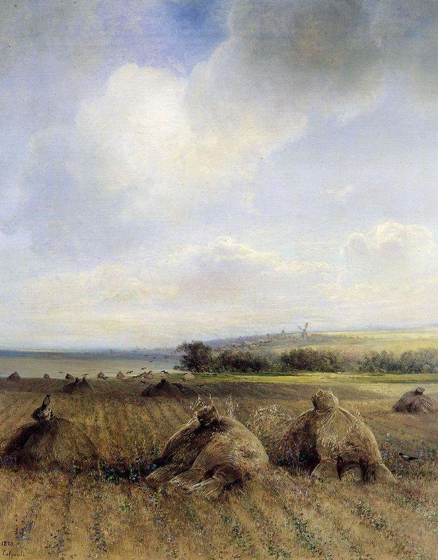 By late summer, on the Volga - Aleksey Savrasov