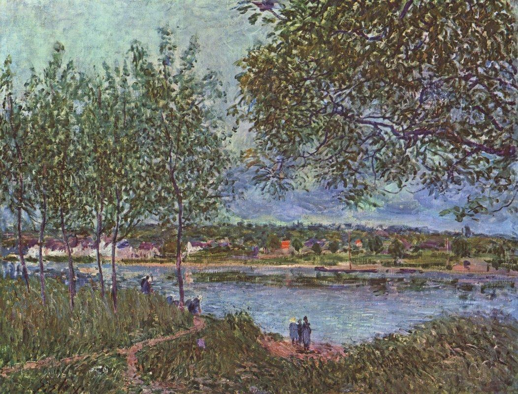 By way of the old ferry - Alfred Sisley