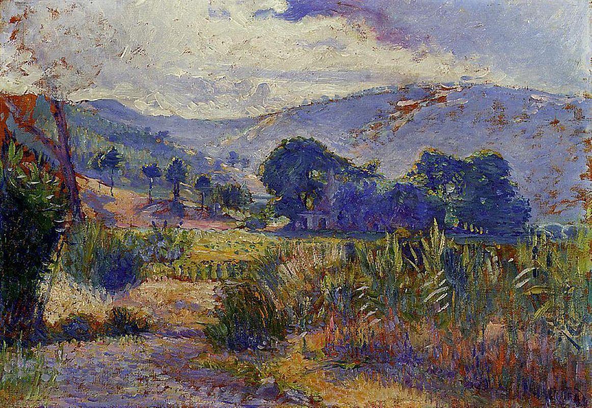 Cabasson Landscape (study) - Henri-Edmond Cross