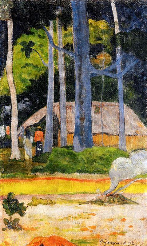 Cabin under the trees - Paul Gauguin