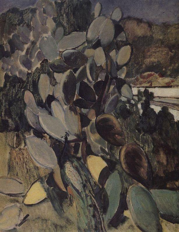 Cacti  - Kuzma Petrov-Vodkin