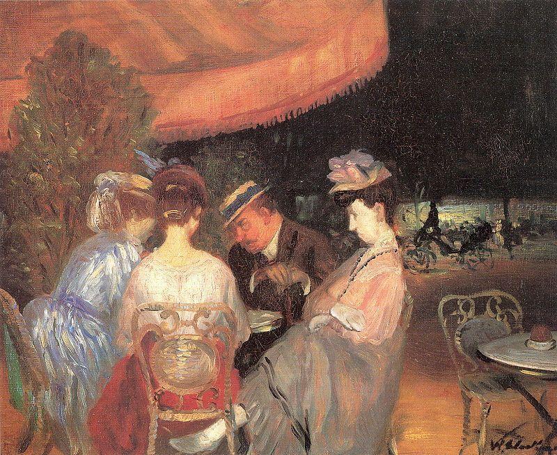 Cafe de la Paix - William James Glackens