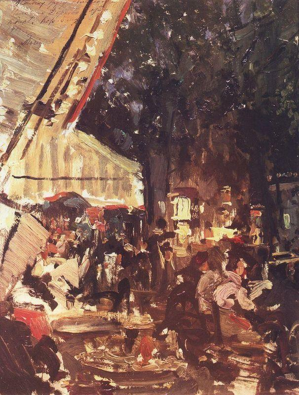 Cafe  - Konstantin Korovin