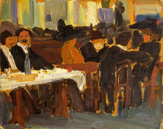 Cafe in Paris  - Amadeo de Souza-Cardoso