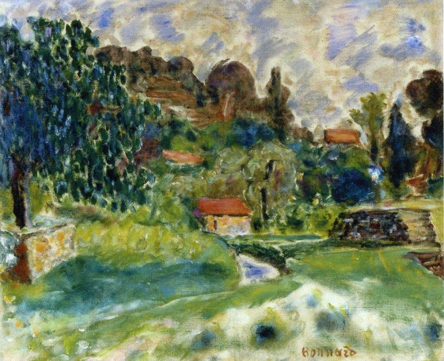 Cagnes Landscape - Pierre Bonnard