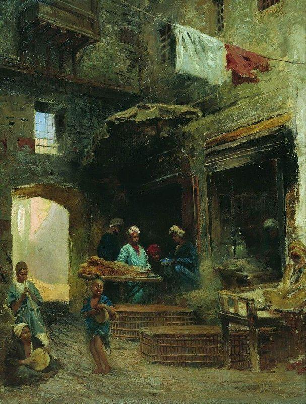Cairo court - Konstantin Makovsky