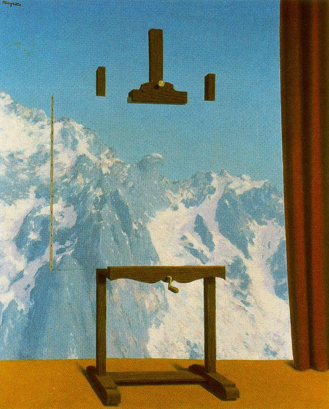 Call of peaks - Rene Magritte