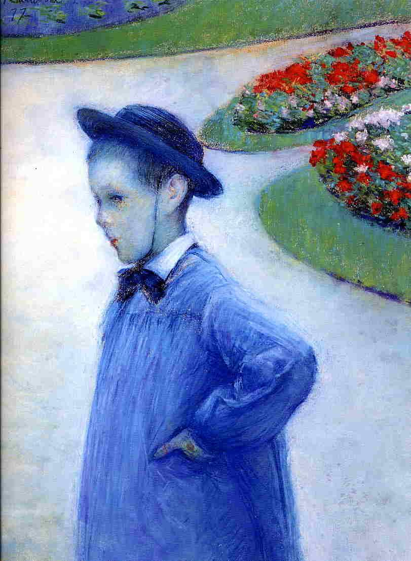 Camille Daurelle in the Park at Yerres - Gustave Caillebotte
