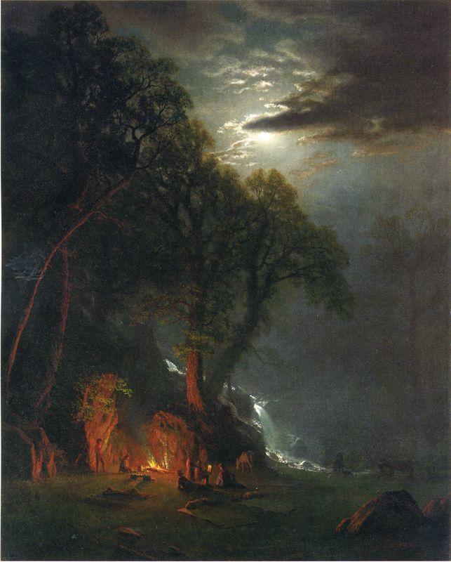 Campfire Site, Yosemite - Albert Bierstadt