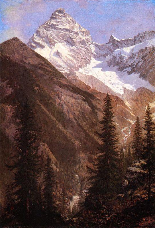 Canadian Rockies, Asulkan Glacier - Albert Bierstadt