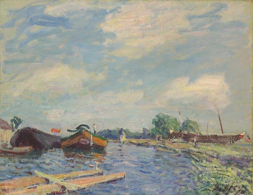 Canal at Saint Mammes - Alfred Sisley