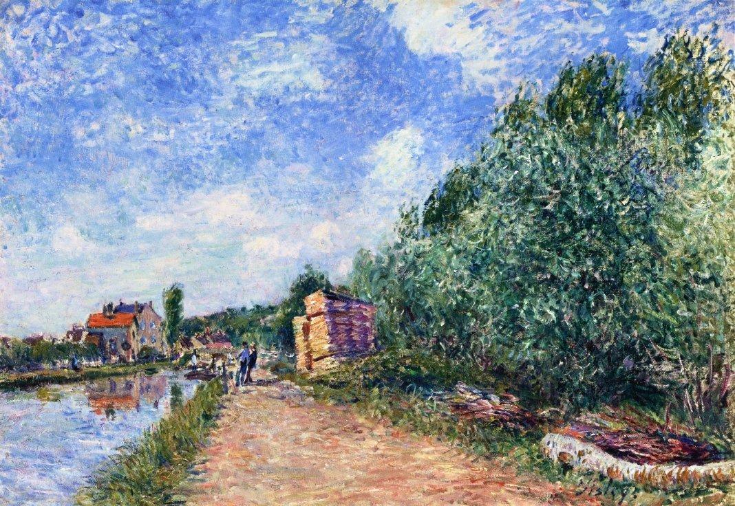 Canal du Loing Chemin de Halage - Alfred Sisley