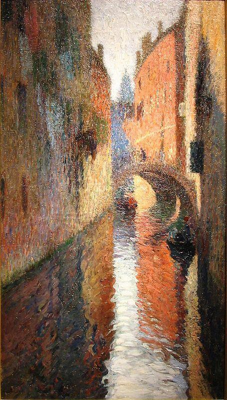 Canal in Venice - Henri Martin