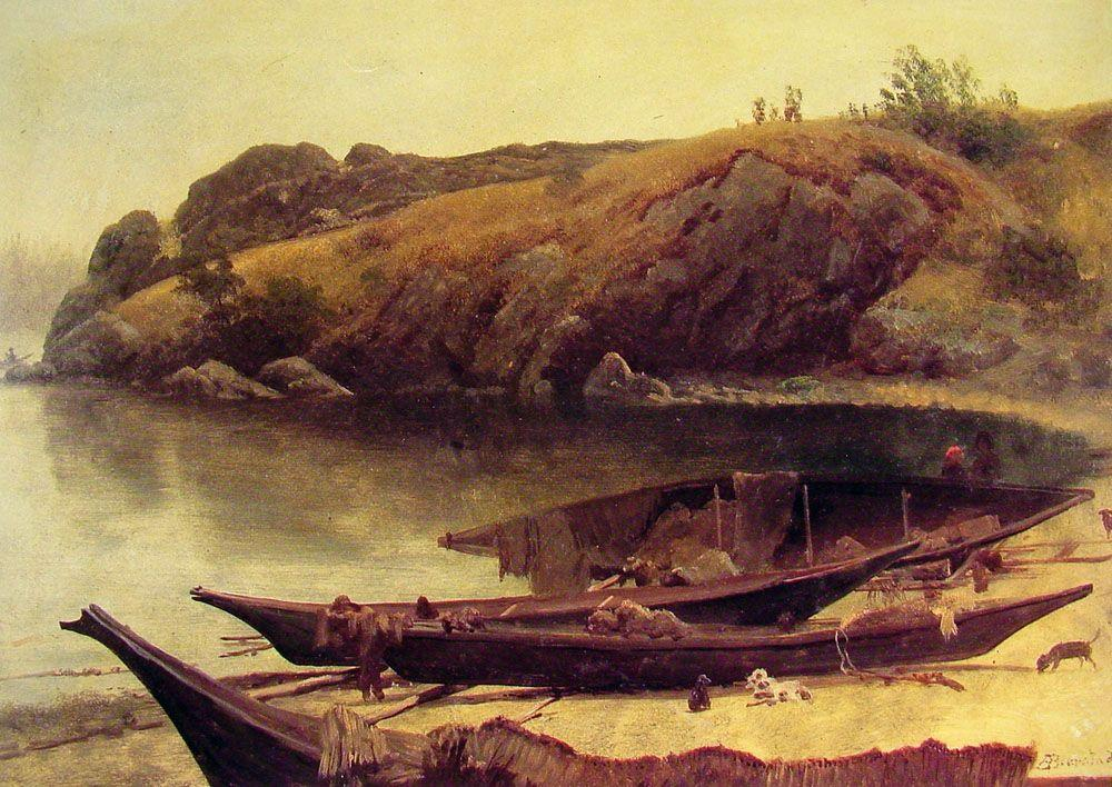 Canoes - Albert Bierstadt