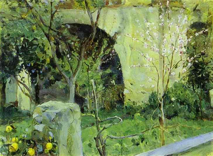 Capri. Almond trees in blossom. - Mikhail Nesterov
