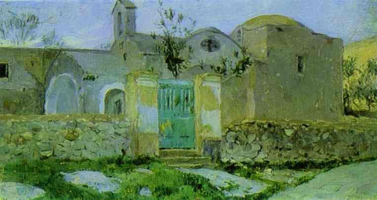 Capri. Entrance to Monastery. - Mikhail Nesterov