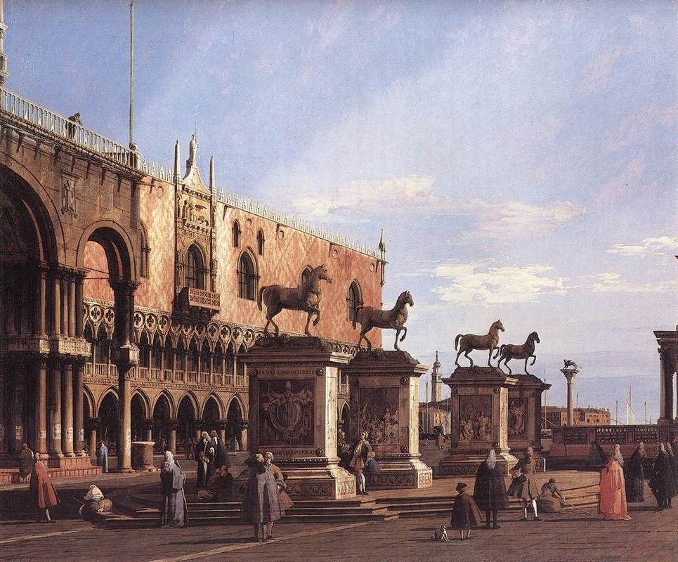Capriccio: The Horses of San Marco in the Piazzetta - Canaletto