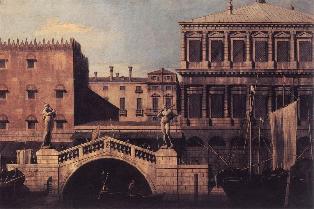 Capriccio: The Ponte della Pescaria and Buildings on the Quay - Canaletto