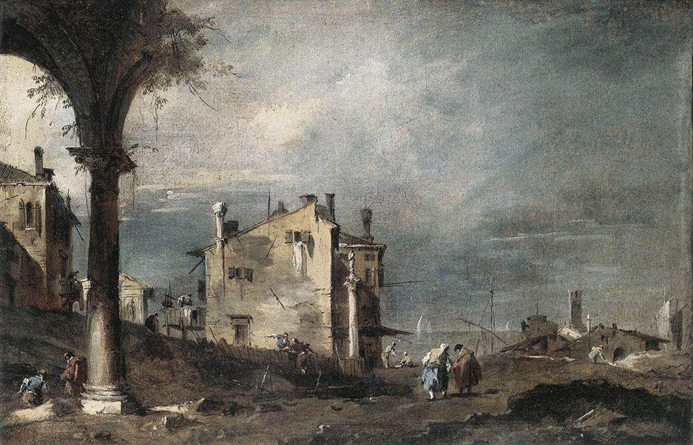 Capriccio with Venetian Motifs - Francesco Guardi