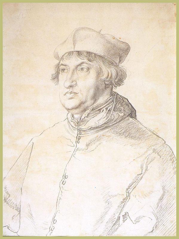 Cardinal Albrecht von Brandenburg - Albrecht Durer