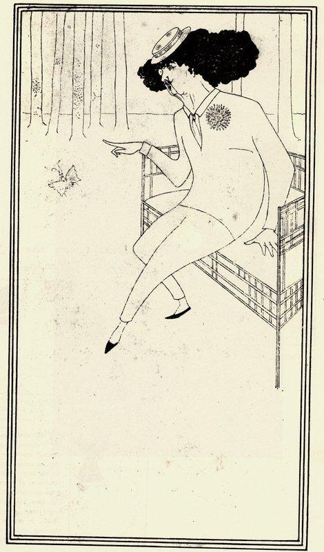 Caricature of James McNeill Whistler - Aubrey Beardsley