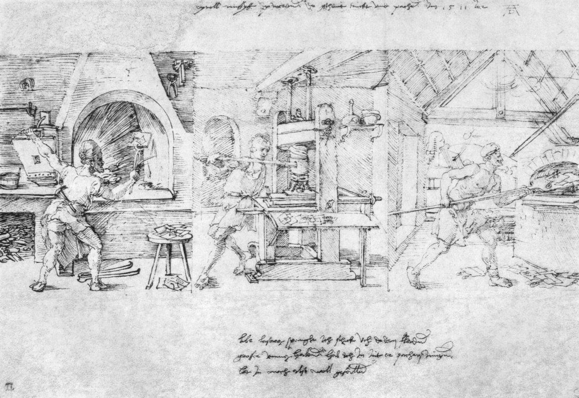 Caricature of Lazarus Spengler - Albrecht Durer