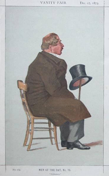 Caricature of Percy William Doyle C.B. - James Tissot
